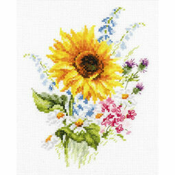 Bouquet With Sunflower Cross Stitch Kit