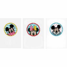 Minnie & Mickey Set Of 3 Cross Stitch Card Kits