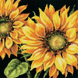 Dramatic Sunflower Tapestry Panel Kit