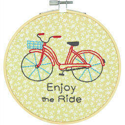 Bike Ride Embroidery Hoop Kit