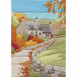 Autumn Cottage Long Stitch Kit