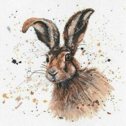 Hugh The Hare Cross Stitch Kit by Bree Merryn