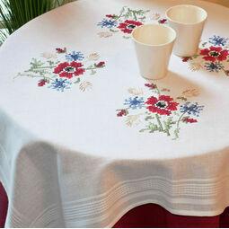 Meadow Posy Cross Stitch Tablecloth Kit