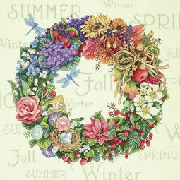 Wreath For All Seasons Cross Stitch Kit
