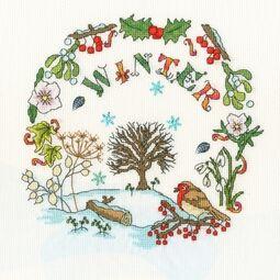 Winter Time Cross Stitch Kit