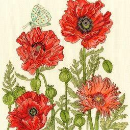 Poppy Garden Cross Stitch Kit