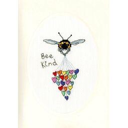 Bee Kind Cross Stitch Card Kit