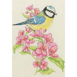 Bluetit & Blossoms Cross Stitch Starter Kit