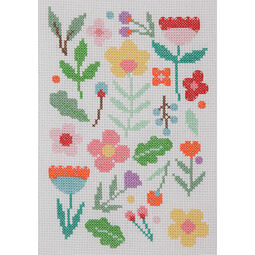 Floral Scatter Beginners Cross Stitch Kit