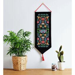 Folk Floral Wall Hanging Cross Stitch Kit