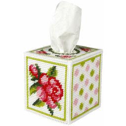 Rose Tissue Box Cover Tapestry Kit