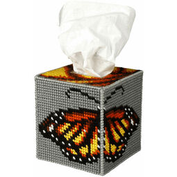 Butterfly Tissue Box Cover Tapestry Kit