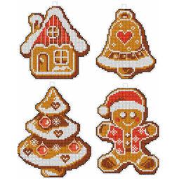Gingerbread Cross Stitch Ornaments Kit