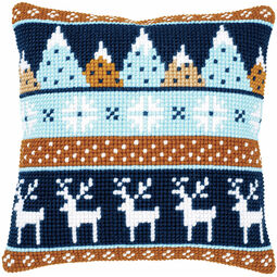 Winter Motifs 2 Chunky Cross Stitch Cushion Panel Kit