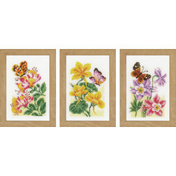 Butterflies Miniatures 1 Cross Stitch Kit (Set of 3)