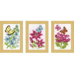 Butterflies Miniatures 2 Cross Stitch Kit (set of 3)