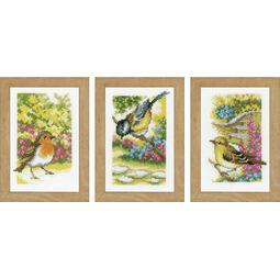 Garden Birds Miniatures Cross Stitch Kit (Set of 3)