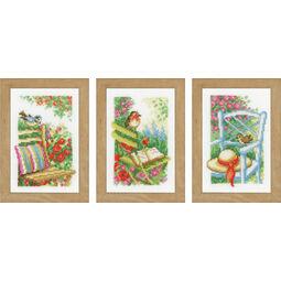 Garden Chairs Miniatures Cross Stitch Kit (Set of 3)