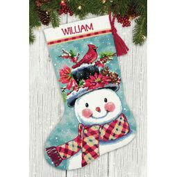Seasonal Snowman Stocking Tapestry Kit