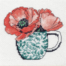 Floral Teacup Tapestry Kit