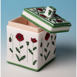 Poppy Box 3D Cross Stitch Kit
