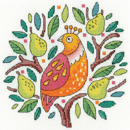 Partridge In A Pear Tree Cross Stitch Kit