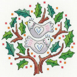 Two Turtle Doves Cross Stitch Kit
