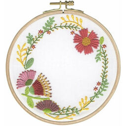 Autumn Flowers Embroidery Hoop Kit