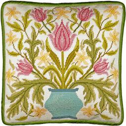 Vase Of Tulips Tapestry Panel Kit