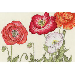 Poppy Blooms Cross Stitch Kit