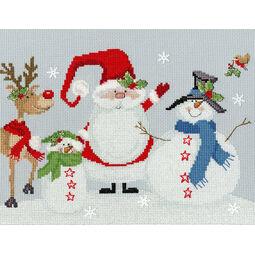 Snowy Friends Cross Stitch Kit