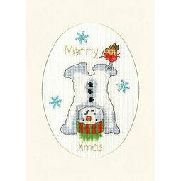 Frosty Fun Cross Stitch Christmas Card Kit