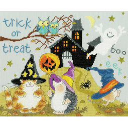 Trick Or Treat Cross Stitch Kit by Margaret Sherry