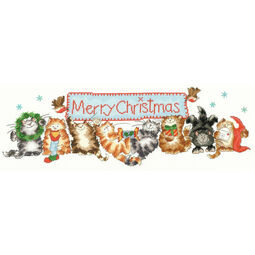 Merry Catmas Cross Stitch Kit