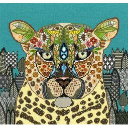 Jewelled Leopard Cross Stitch Kit