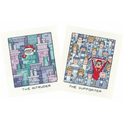 The Supporter & The Intruder Set Of 2 Cross Stitch Kits