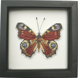Peacock Butterfly Faux Taxidermy Cross Stitch Kit