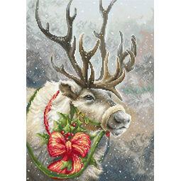 Christmas Reindeer In Snow Cross Stitch Kit