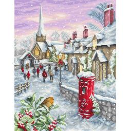 Christmas Eve Village Cross Stitch Kit