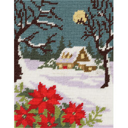 Winter Cottage Tapestry Kit