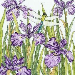 Iris Garden Cross Stitch Kit
