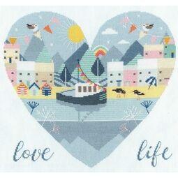 Love Life Cross Stitch Kit