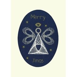 Christmas Angel Cross Stitch Card Kit