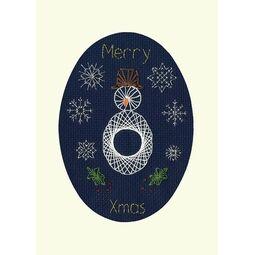 Christmas Snowman Cross Stitch Card Kit