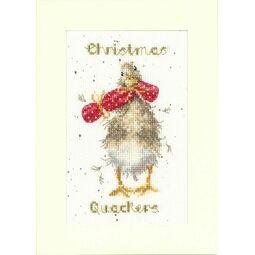 Christmas Quackers Cross Stitch Card Kit