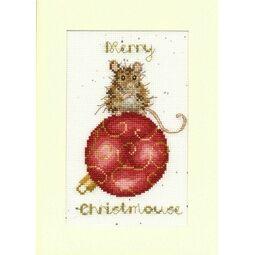 Merry Christmouse Cross Stitch Christmas Card Kit