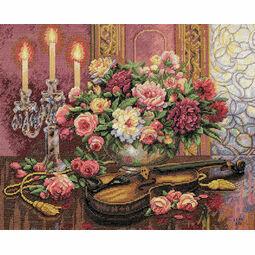 Romantic Floral Cross Stitch Kit