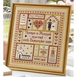 Wedding Patchwork Cross Stitch Kit