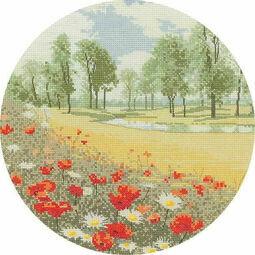 Summer Meadow (Circles) Cross Stitch Kit