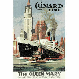 The Queen Mary Cross Stitch Kit